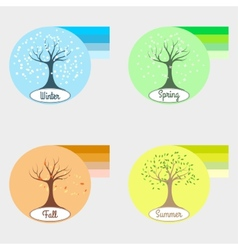 Infographic four seasons vector image vector image