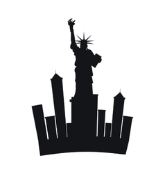 Liberty statue new york city vector