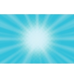 Light blue pop art background vector