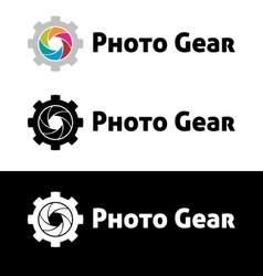 Photo gear logo template vector image vector image