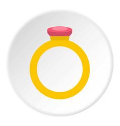Ring icon circle vector