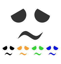 sad worried smile icon vector image vector image