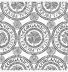 seamless tree pattern 020 grunge vector image vector image