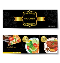 set of food voucher discount template design vector image