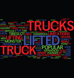 The lifted truck experience fun for everyone text vector