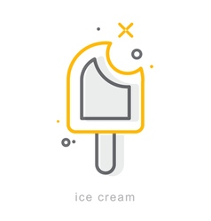 Thin line icons ice cream vector