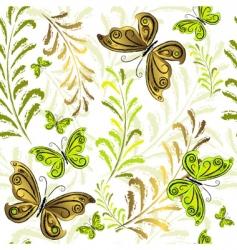 white effortless floral wallpaper vector image vector image