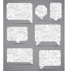 Abstract speech clouds collection of mosaic elemen vector image