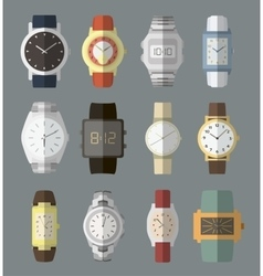 Set of watches vector