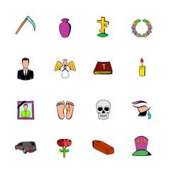 Death icon set vector