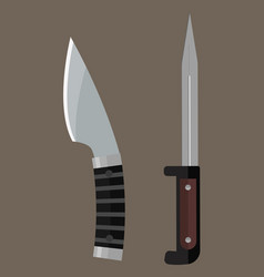 Knife weapon dangerous metallic sword vector