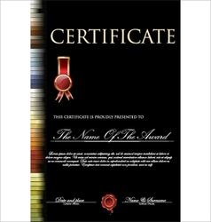 Colorful and black certificate template vector image