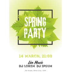 Spring night club party flyer invitation poster vector