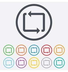Repeat icon loop symbol refresh sign vector