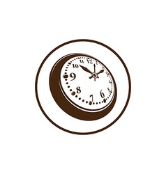 Old-fashioned pocket watch graphic simple vector