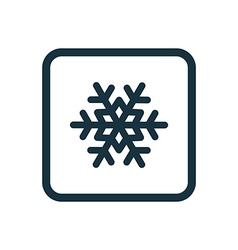 Snowflake icon rounded squares button vector