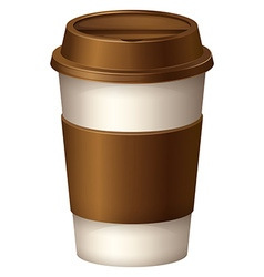 Coffee cup with brown lid vector