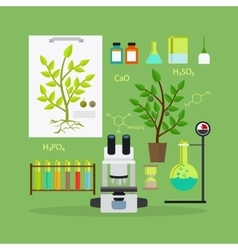 Biology research equipment vector