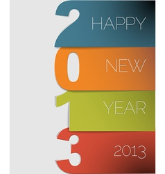 New Year 2013 card vector image