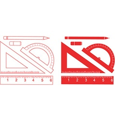 Stationary ruler set vector
