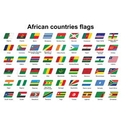 African countries flags icons vector image