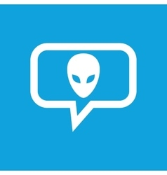 Alien message icon vector