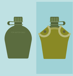 army water canteen and case vector image