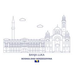 Banja luka linear city skyline vector