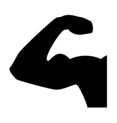 Bicepsom the black color icon vector