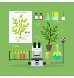 Biology research equipment vector