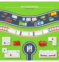 City navigation top view vector