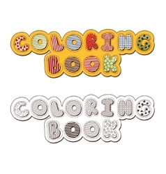 Coloring Book Header vector image vector image