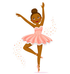 Dark skinned ballerina vector
