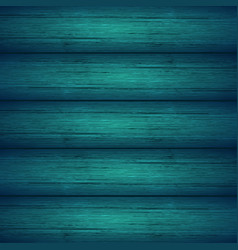 Dark turquoise blue wooden planks texture vector