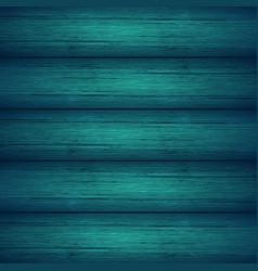 Dark turquoise blue wooden planks texture vector