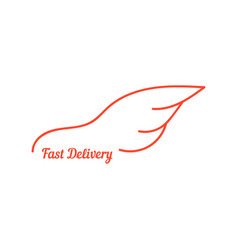 Fast delivery with wing like car vector