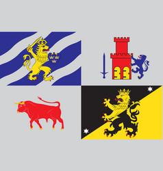 Flag of vastra gotaland county in sweden vector