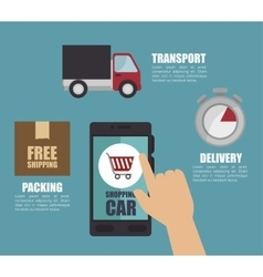 Free shipping delivery icon vector