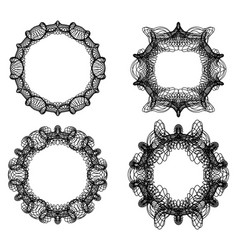 guilloche secure elements abstract circle frame vector image