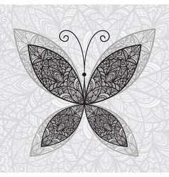hand drawn buttefly vector image vector image
