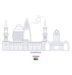 Khartoum city skyline vector