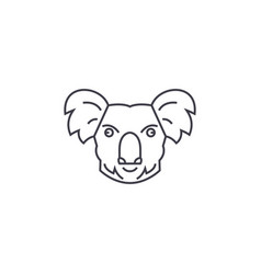 koala head line icon sign on vector image vector image