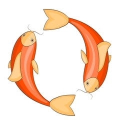 Koi carps icon cartoon style vector image