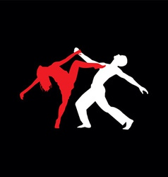 Latin dancers silhouettes vector image vector image