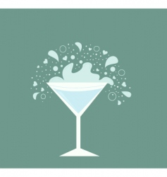 martini drink vector image