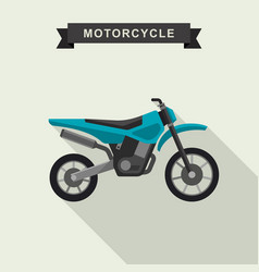 Motoctoss enduro bike vector