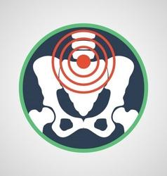 Pelvic pain logo vector