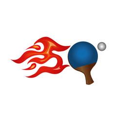 Ping pong sport emblem vector