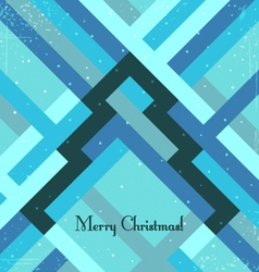 Retro styled christmas greeting card vector