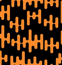 Seamless background with abstract shapes orange on vector image vector image